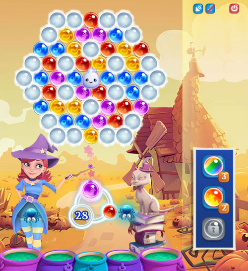 Rescue the Ghost in Bubble Witch Saga 2