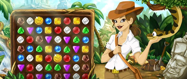 Jungle Jewels - Match the gems together and win big jackpots in this new Facebook Game.