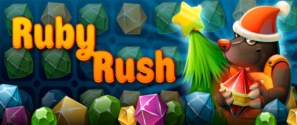 Ruby Rush - Catch the gems as they fly around in this fantastic new match 3 game on Facebook.