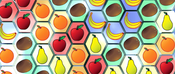 Fruit Jewels 3D - Run your own fruit kiosk in a free matching game on Facebook.