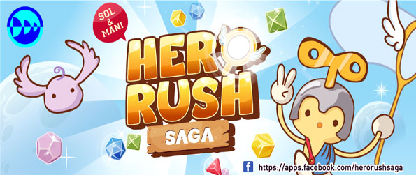 Hero Rush Saga - Blow up blocks and collect monsters in a fun Facebook game.