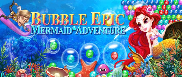 Bubble Epic Mermaid Adventure - Save the prince at the bottom of the sea with your mermaid magic.