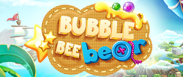 Bubble Bee Bear - Shoot bubbles in a free game with your bear and bunny.