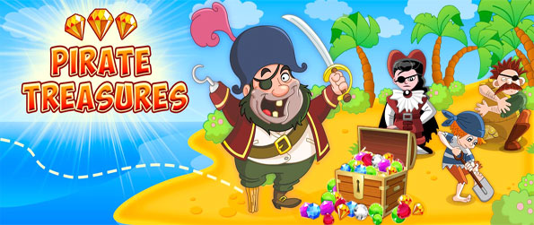 Pirate Treasures - Enjoy a fun pirate themed match 3 game free on Facebook.