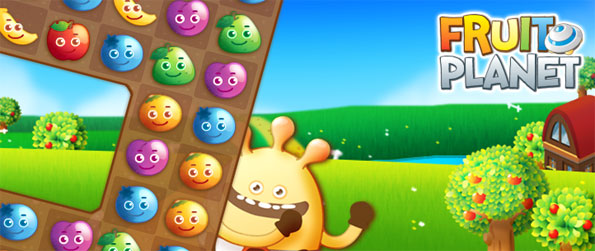Fruit Planet - Enjoy a fun and fruity match 3 game free on Facebook.