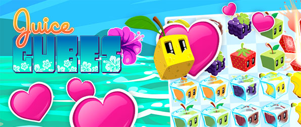 Juice Cubes - Enjoy a fantastic and fruity match 3 game free on Facebook.