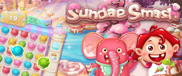 Sundae Smash - Enjoy a fun Ice Cream themed match 3 game with a sweet twist.
