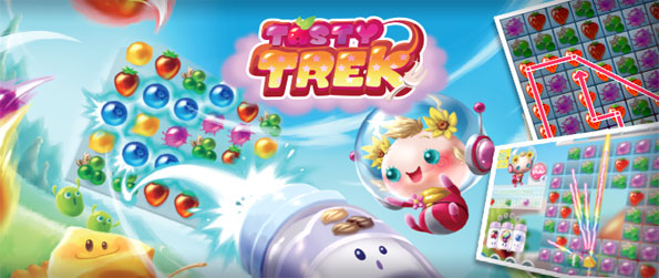 Tasty Trek - Explore a fun fruit filled game with fast paced match 3 action free on Facebook.