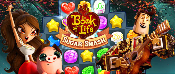 Book of Life: Sugar Smash - Travel on a fun and sweet match 3 adventure with this free Facebook game.
