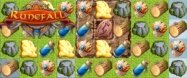 Runefall - Enjoy a stunning match 3 game with a difference as you collect materials to rebuild your town.