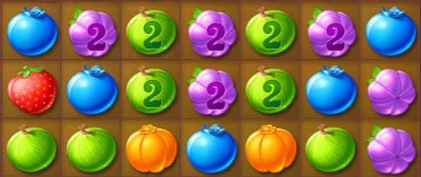 Berry Rush - Match these Cute Fruits in a Brilliant new Match 3 Game free on Facebook.