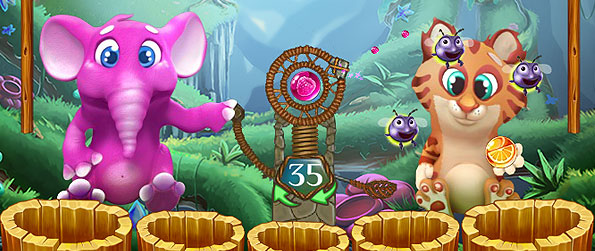 Bubble Friends Story - Join our cute animal friends as they scour and forage for fruit spheres in the jungle in this wonderful bubble shooter game.