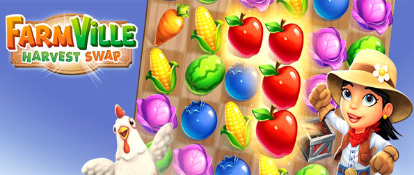 FarmVille: Harvest Swap - Help manage the farm by collecting all of the crops together.