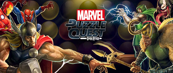Marvel Puzzle Quest - Match cubes that correspond to your character's color in order to charge up their special attacks.
