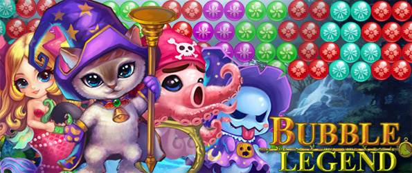 Bubble Legend - Help little Niko release all her friends by shooting bubbles against the clock in this free Facebook game.