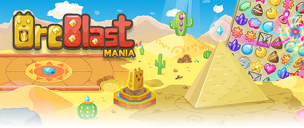 Ore Blast Mania - Get loco for ore-finds as you solve the multitudes of levels with progressive challenges in this fresh match-3 game in Facebook.