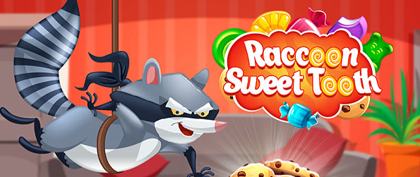 Raccoon Sweet Tooth - Take the challenge to eat all sweets in this amazing match 3 puzzle adventure!