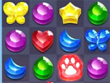 paws and butterfly gems in Genies & Gems